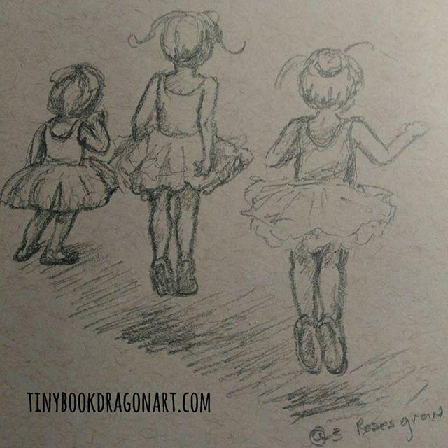 Today's #instakids #dailysketch inspired by @3rosesgrow .#sketchbook #dailydrawing #ballet #littledancers #littleballerina #jump #drawing #art #sketch #pencil #pencilsketch #dance #kidlitart #illustration #illustrationart