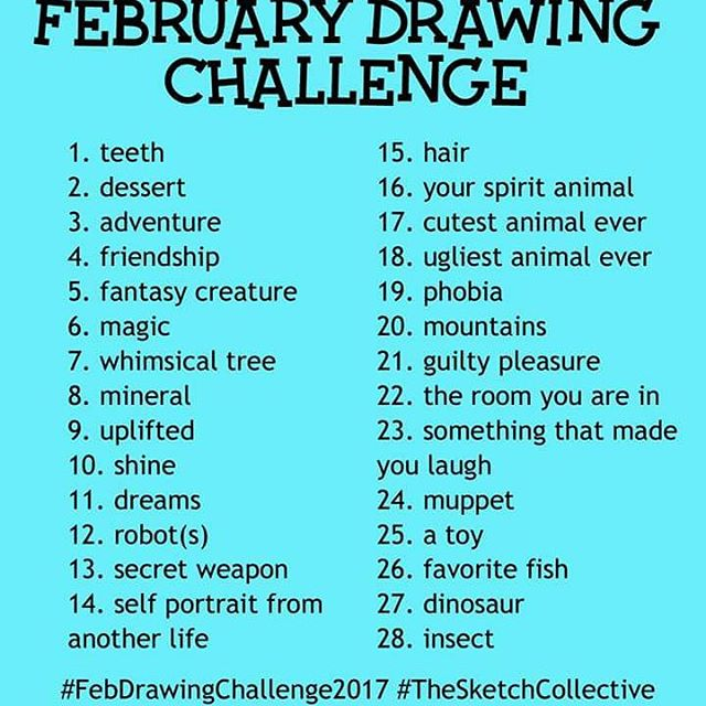 Joining @marcia_furman and #thesketchcollective in doing the #febdrawingchallenge2017 (Also don't forget the #loveofartloop giveaway starts tomorrow.)