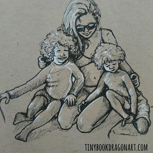 Stuck on my Drawing challenge idea for today so decided to challenge myself to work on a small sketch of a complicated pose to capture. Thanks to @boatsboardsandbabies for the inspiration. .#drawing #sketchbook #sketch #copic #ink #gellyroll #strathmore #drawingpractice #illustration #pose #portrait #kids #children #mom #art