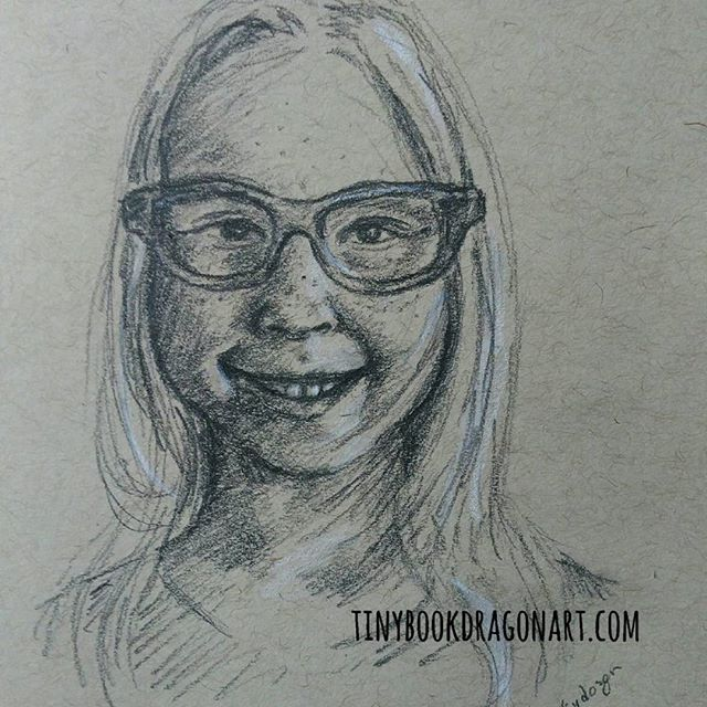 New glasses..Inspired by @thedorkydozen .#art #artistofig #illustration #drawing #pencilsketch #sketches #sketchbook #Portrait #portraitdrawing #traditionalartist #traditionaldrawing#glasses .#pencil on#strathmore #tonedpaper with white #prismacolor #coloredpencil