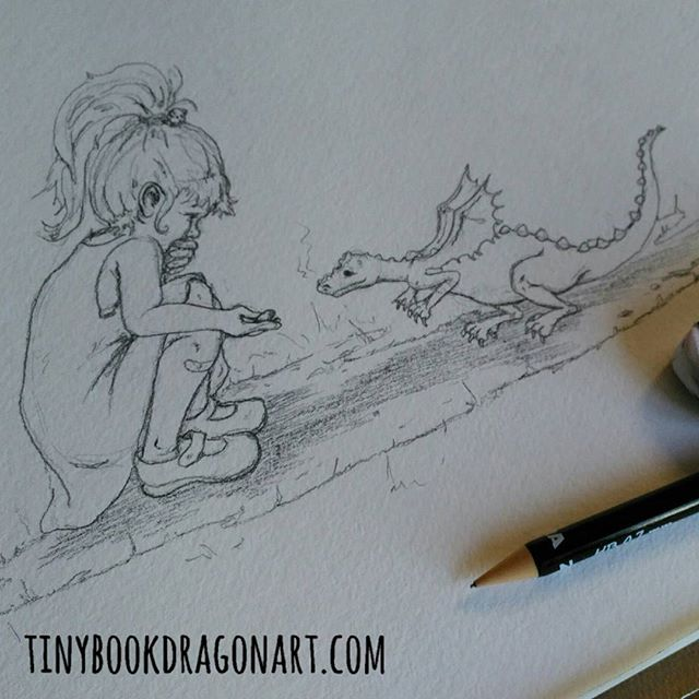 Making New Friends.The start of a new Watercolor.#sketch #drawing #pencil #pencilsketch #Dragon #instastory #instart #illustration #child #friends #friendship #bestfriend #newfriends #Watercolor #tinydragon