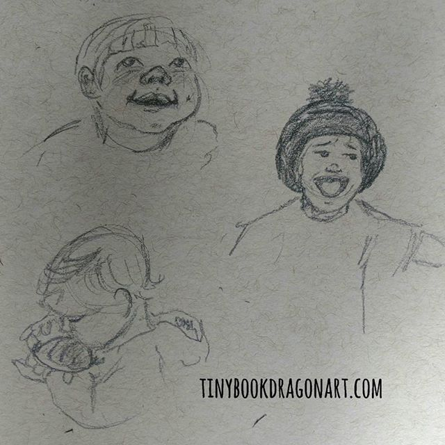 Exploring the #unschooling tag and working on #expressions . .#sketchbook #quickdraw #sketch #art #illustration #children #play #kidlitart #pencil