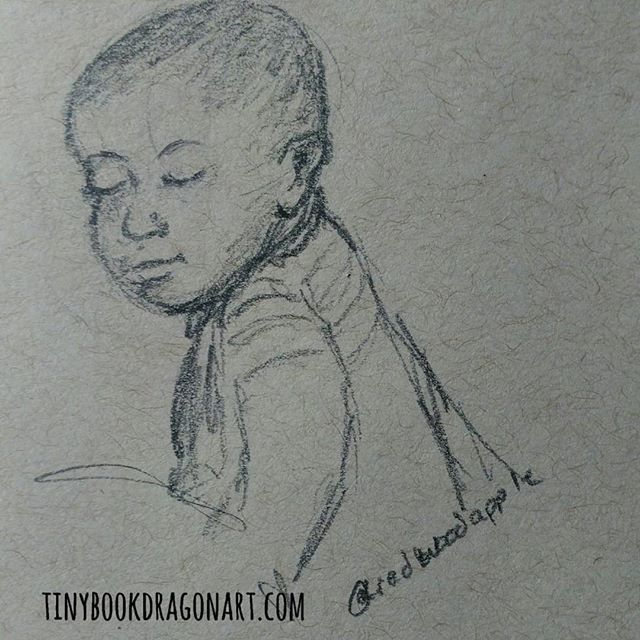 Another quick sketch inspired by @redwoodapple .#dailysketch #dailydrawing #art #illustration #pencil #pencilsketch #illustrationart #child #play #kidlitart